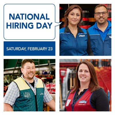 National Hiring Day on Saturday, February 23